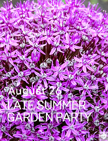 Mid summer garden party off Main Street in Vancouver